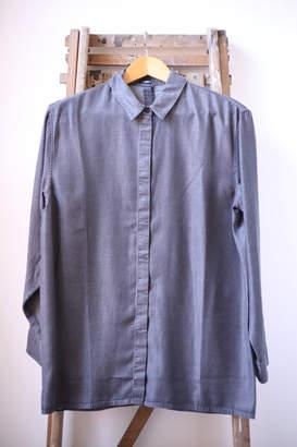 Denham Jeans The Jeanmaker - Icon Washed Black Chambray Shirt - 10 UK / Black - Blue