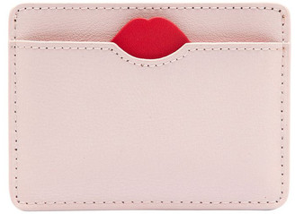 Lulu Guinness Blush Lip Cut Out Cate Cardholder