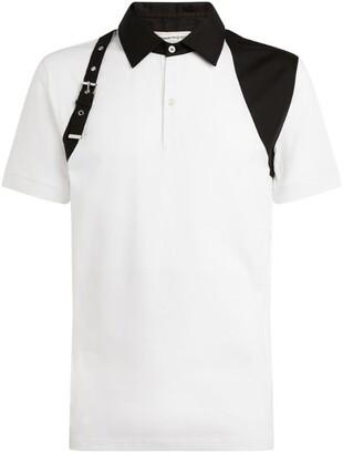 Alexander McQueen Harness-DetailPolo Shirt