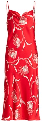 Joie Marcenna Floral Midi Slip Dress