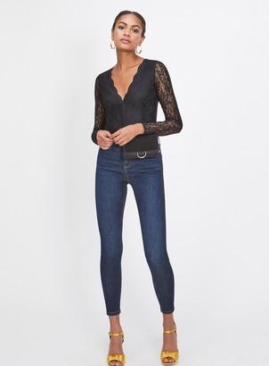 Miss Selfridge LIZZIE High Waist Super Skinny Dark Blue Jeans