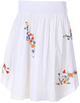 Tory Burch White Cotton - elasthane Skirt for Women