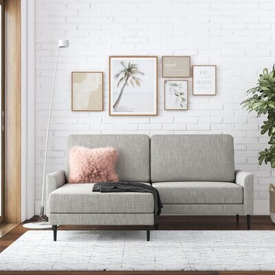 """Thumbnail for your product : CosmoLiving by Cosmopolitan Francis 75"""" Wide Reversible Sofa & Chaise"""