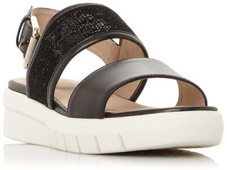 Geox D Wimbley Sand Sequin Buckle Sandals