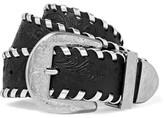 Maison Margiela Embossed Leather Waist Belt - Black