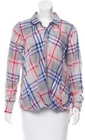 Nicholas Plaid Button-Up Top