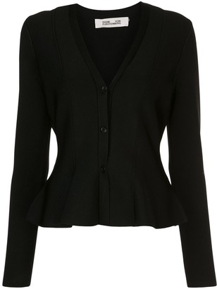 Dvf Diane Von Furstenberg Flared Button-Up Cardigan