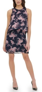 Tommy Hilfiger Crescent Floral Chiffon Dress