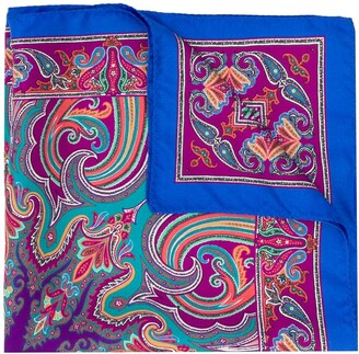 Etro Printed Pocket Square