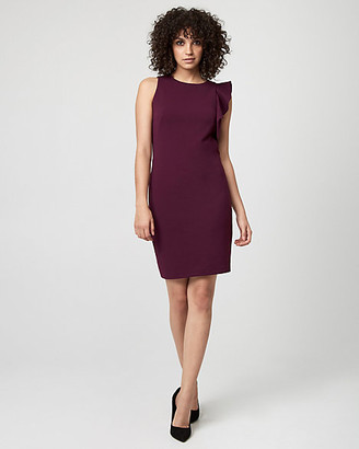 Le Château Knit Crepe Ruffle Dress