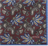 Eton Floral Print Silk Pocket Square