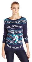Isabella's Closet Women's You Spin Me Right Round Baby Dreidel Hanukkah Sweater