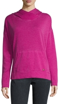 Betsey Johnson Women's Cotton Hooded Split Hem Sweater