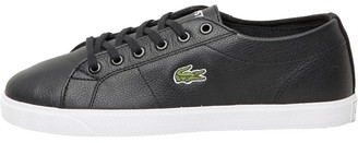 Lacoste Womens Riberac Leather Trainers Black/Black