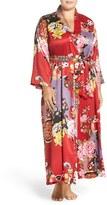 Natori Plus Size Women's Print Robe