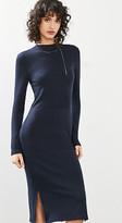 Esprit Ribbed fine knit midi dress