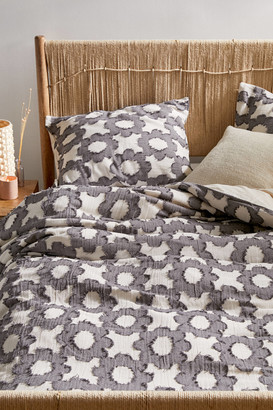Urban Outfitters Clipped Daisy Textured Duvet Cover