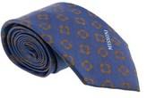Missoni Four Petal Floral Blue Woven 100% Silk Tie.