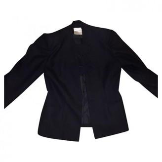 Emmanuelle Khanh Black Wool Jacket for Women Vintage