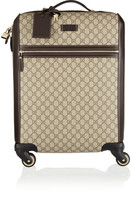 Gucci Gran Turismo Leather-trimmed Coated-canvas Travel Trolley - Beige