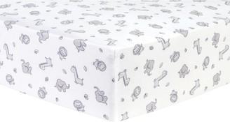 Trend Lab Safari Chevron Deluxe Flannel Fitted Crib Sheet