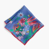 J.Crew for BuglifeTM Italian silk pocket square