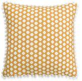 Wander Home Kelia Polka Dot Square Throw Pillow in Yellow