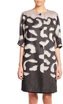 Escada Abstract-Print Knit Coat