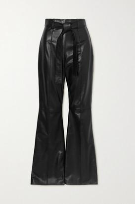 16Arlington Hana Leather Flared Pants - Black