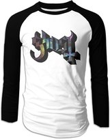 CA99 FREE Men's Long-Sleeve Ghost B.C Rock Band Logo Baseball Raglan Shirt Jersey