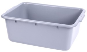 Basicwise Vintiquewise Utility Bus Box and Storage Bin with Handles