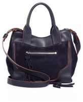 Elizabeth and James Andie Mini Leather & Suede Satchel