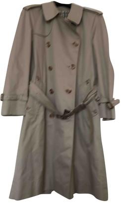 Aquascutum London Ecru Cotton Trench Coat for Women