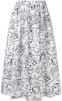 Kenzo all-over printed long skirt