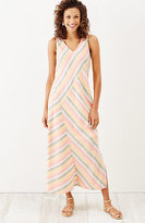 J. Jill Linen Striped Maxi Dress