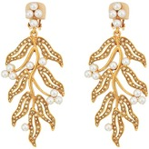 Oscar de la Renta Hammered Leaves C Earrings Earring