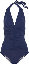 Tart Collections Athena ruched halterneck swimsuit