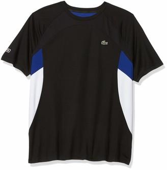 Lacoste Men's Sport Short Sleeve Ultra Dry Colorblock T-Shirt