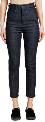 Moncler Denim High-Waisted Cropped Jeans