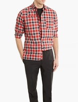 Lanvin Red Checked Cotton Shirt