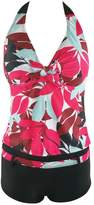 Crazycatz@Women Two Pieces Swimsuit Tankini Sets Floral Print