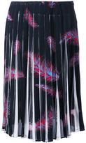 Emilio Pucci 'Feathers Print Crepe de Chine' skirt - women - Silk/Spandex/Elastane - 42