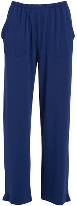Fresh Produce Women's Casual Pants MNL - Royal Blue Side-Pocket Wide-Leg Pants - Women
