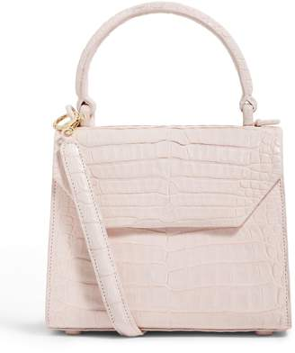 Nancy Gonzalez Crocodile Lily Top Handle Bag