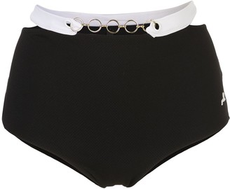 Morgan Lane Mica high-waisted bikini bottoms