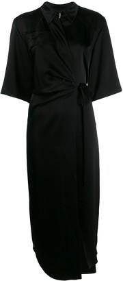 Nanushka Lais draped front satin dress