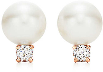 Tiffany & Co. & Co. Signature Pearls earrings in 18k rose gold with pearls and diamonds