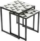 Vienna Woods Outdoor Coffee & Side Tables Outdoor Side Table, Polygon (Set of 2)