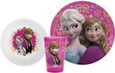 Zak Designs Frozen Anna and Elsa 3-pc. Dinnerware Set