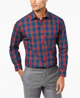 Club Room Men's Classic-Fit Wrinkle Resistant Plaid Dress Shirt, Created for Macy's
